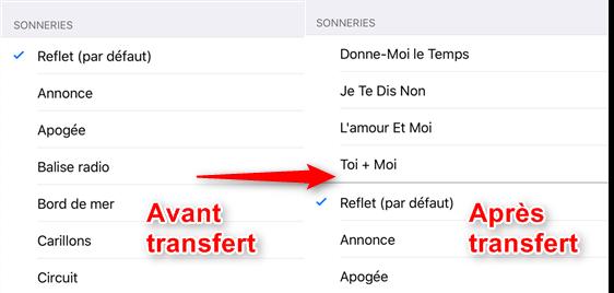 Comment envoyer les sonneries d'iPhone à iPhone 7