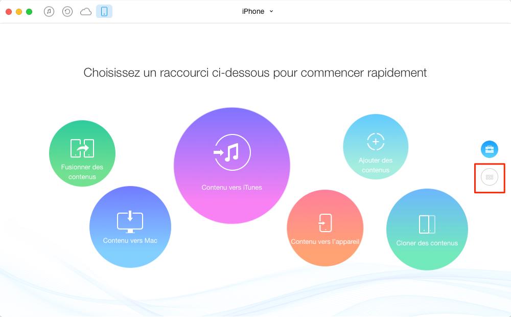 Comment transférer les vidéos iPhone vers iPhone 7 – étape 1