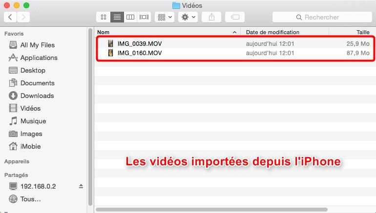 Comment importer facilement des vidéos d'iPhone vers Mac