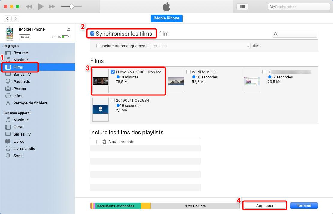 Synchroniser les vidéos entre Mac et iPhone - 2