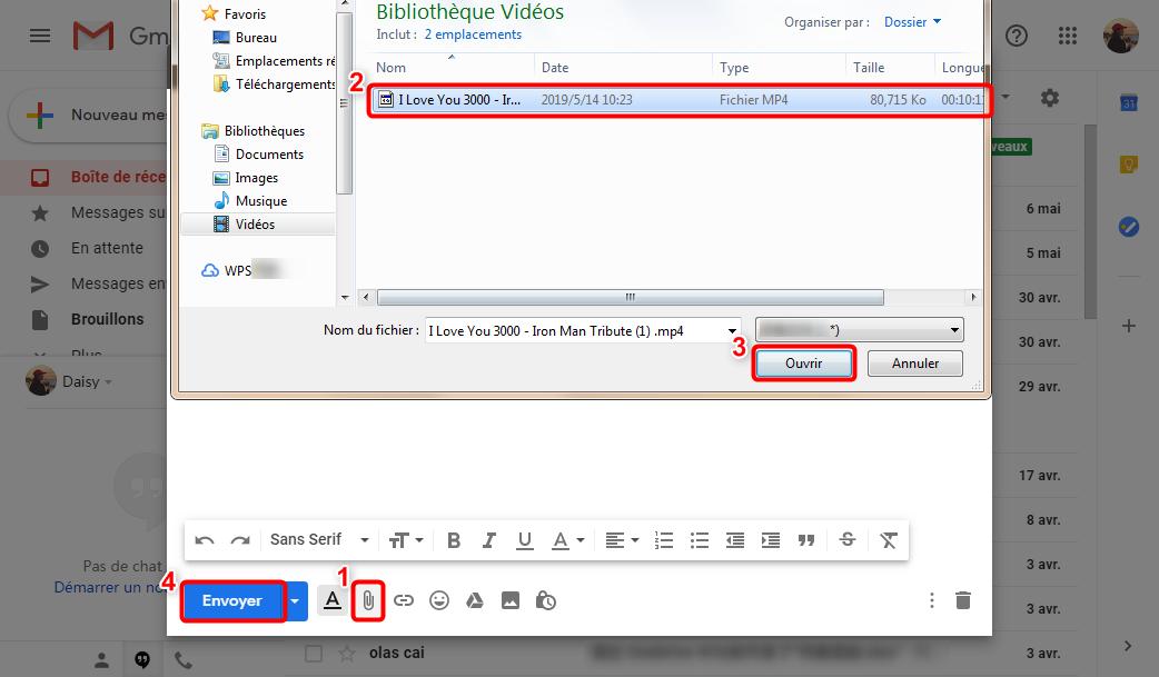 Insérez la vidéo en pièce jointe dans l'e-mail - 1