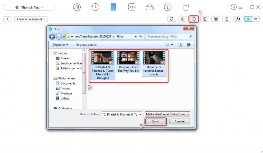 Comment mettre les vidéos sur iPhone – étape 3