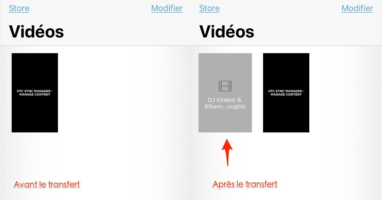 Transfert de vidéos PC vers iPhone - étape 3