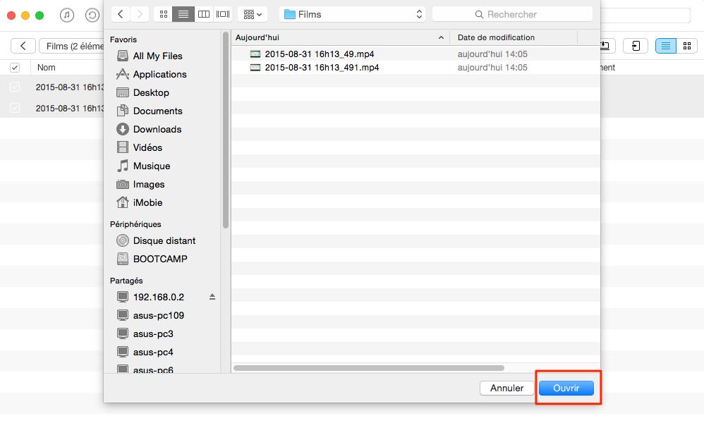 Comment transférer les vidéos d'un Mac à l'iPhone – étape 3
