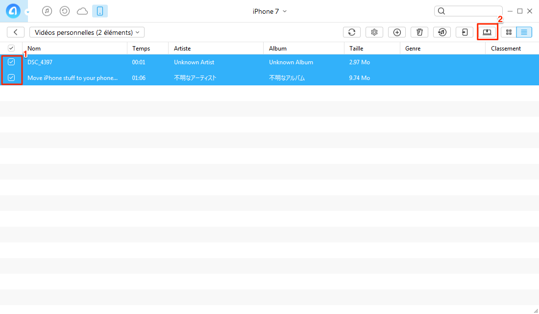 Comment transférer les vidéos iPhone 7 vers PC – étape 3