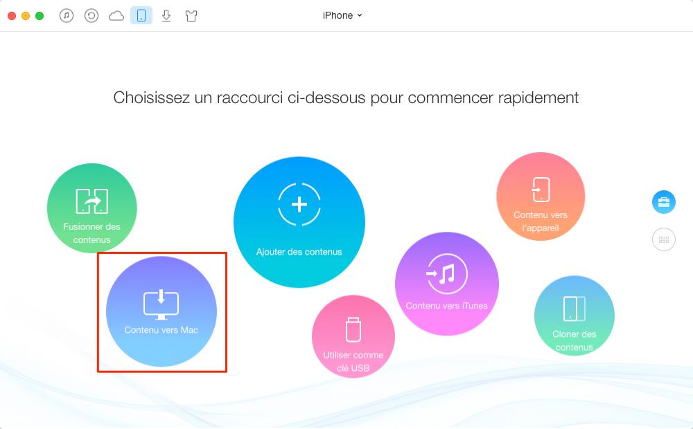 Comment transférer des vidéos depuis l'appareil iOS vers USB – étape 1