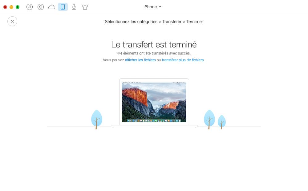 Comment copier des vidéos iPhone 4/5/6/7/SE vers USB – étape 4