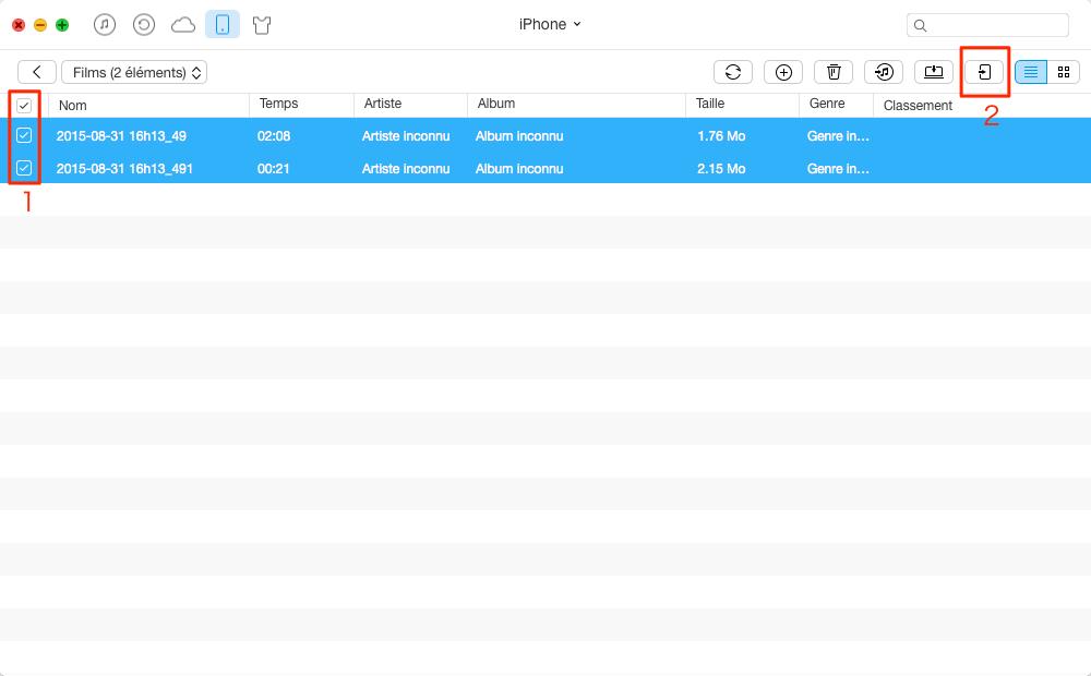 Transférer des vidéos de l'iPhone à l'iPad Pro avec AnyTrans - étape 3