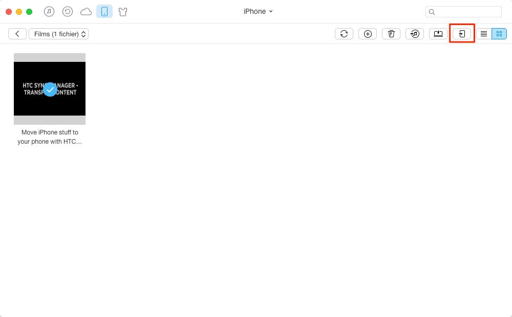 Transférer des vidéos de l'iPhone à iPhone avec AnyTrans - étape 3