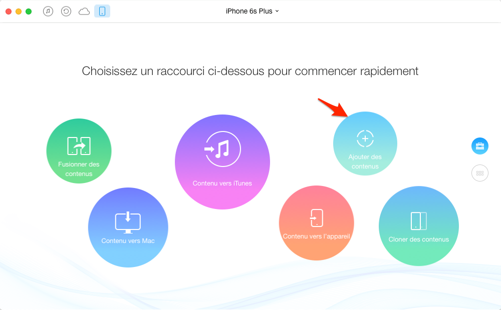 Transférer les vidéos de l'ordinateur à l'iPhone avec AnyTrans pour iOS – étape 1