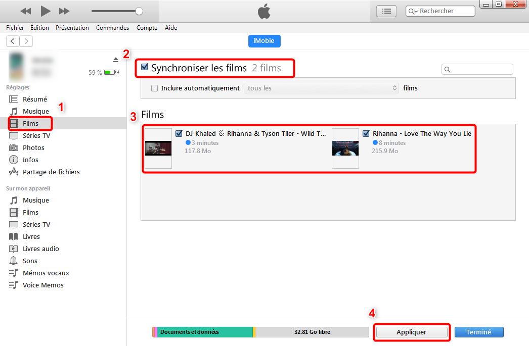 Comment transférer des fichiers du PC vers iPad avec iTunes