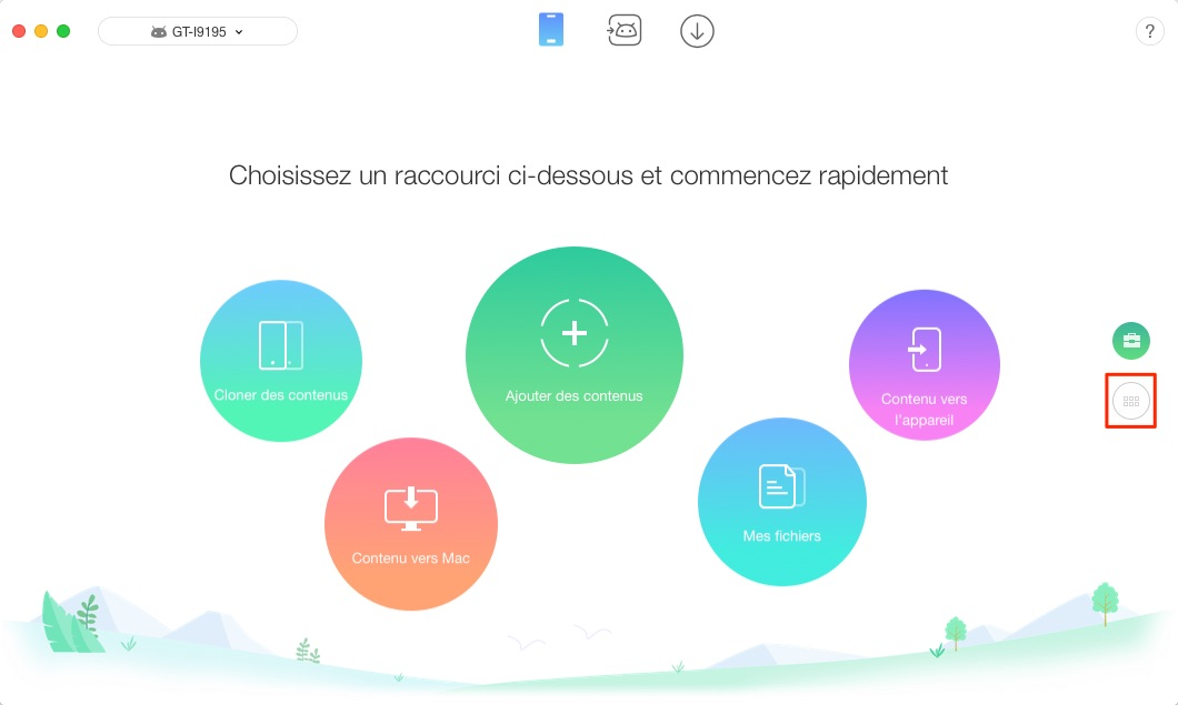Transférer les applications Android vers Android - étape 1