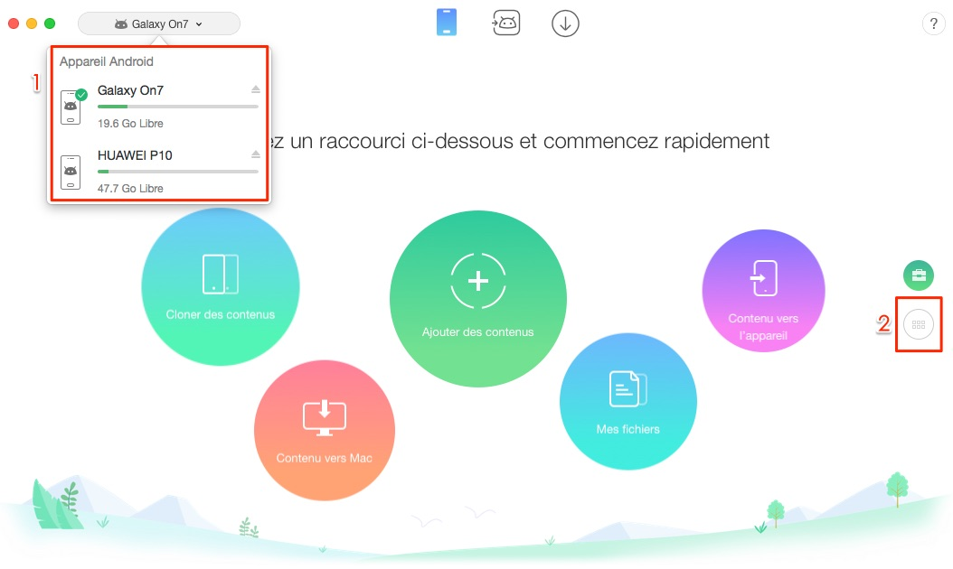 Comment transférer les contacts Android vers Android - étape 1