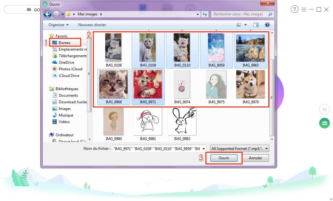 Transfert de fichiers PC vers tablette Android - étape 2