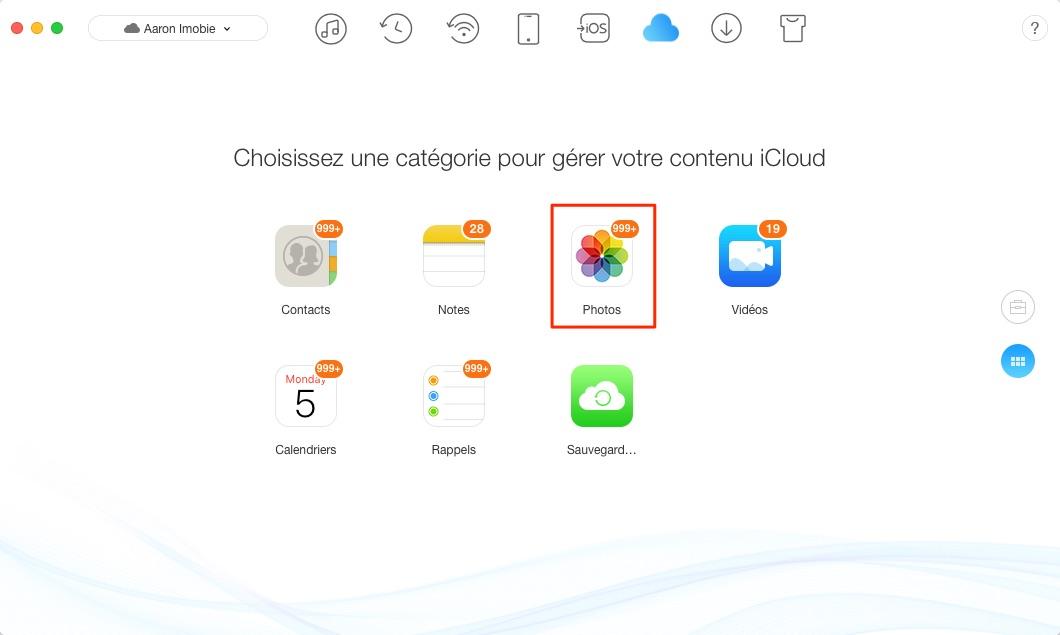 Transférer les contacts, les messages, les photos d'un compte iCloud vers un autre - étape 3