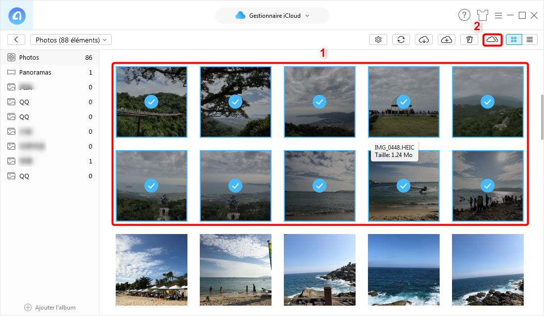 Comment transférer le contenus d'un compte iCloud vers un autre - étape 3
