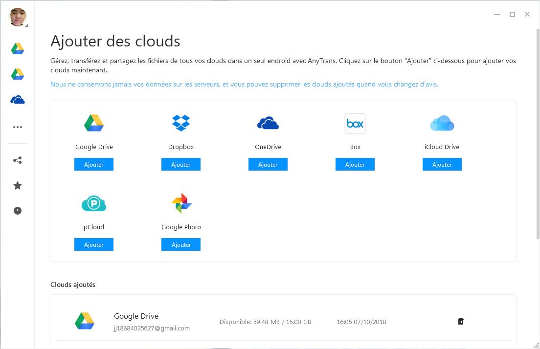 Transférer les données vers l'identifiant Apple depuis d'autres clouds
