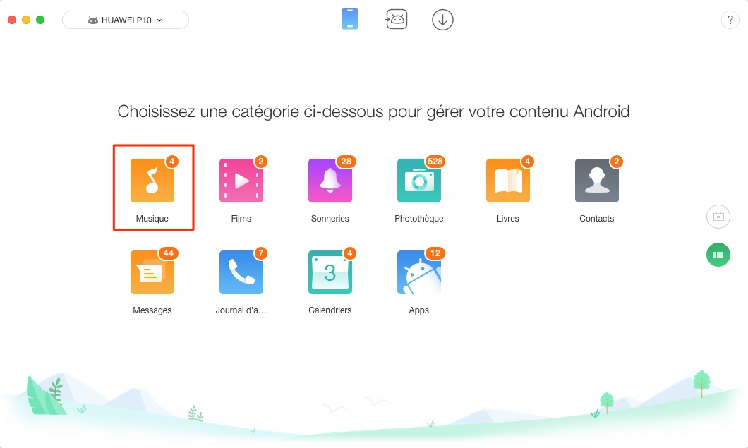 Mettre de la musique sur Android avec Mac - étape 2
