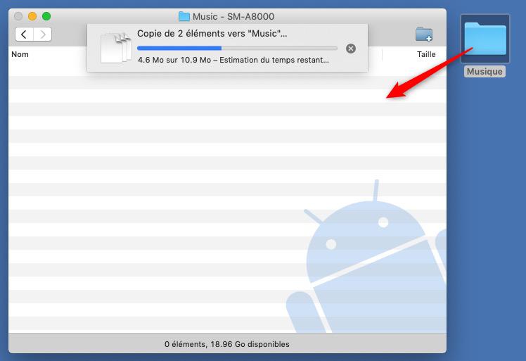 Transférer la musique Mac vers Samsung via un câble USB