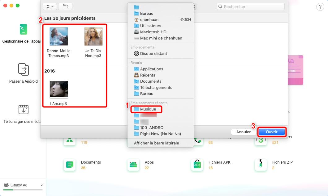 Comment transférer la musique Mac vers Samsung directement - 2
