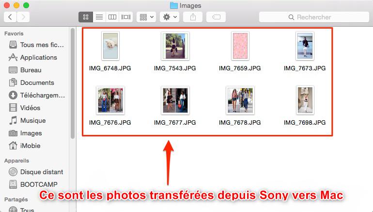 Importer les photos de Sony Xperia vers Mac directement – étape 4