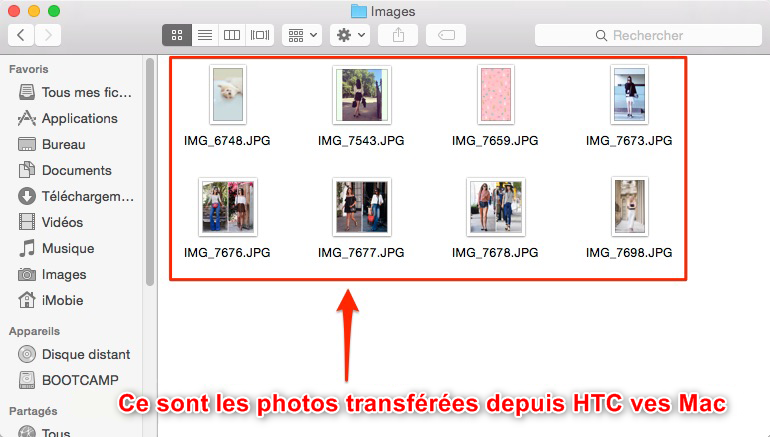 Importer des photos HTC vers Mac rapidement-étape 4