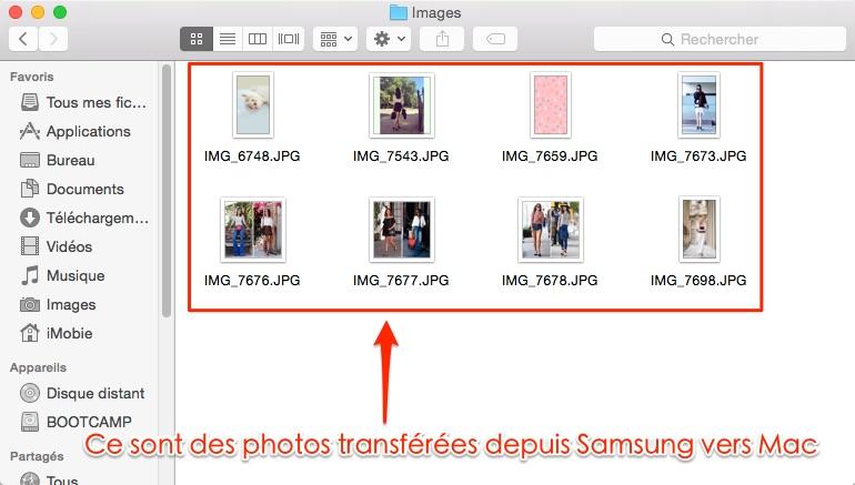 Comment transférer les photos Samsung vers Mac d'un coup - étape 4