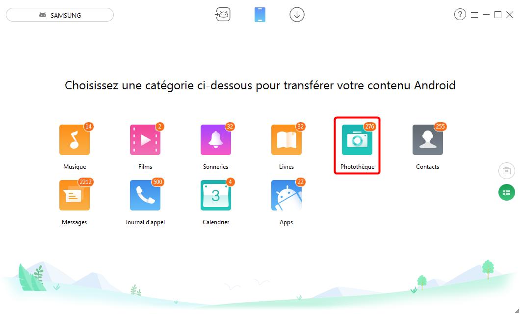 Transfert de photos depuis tablette Android vers PC - étape 2