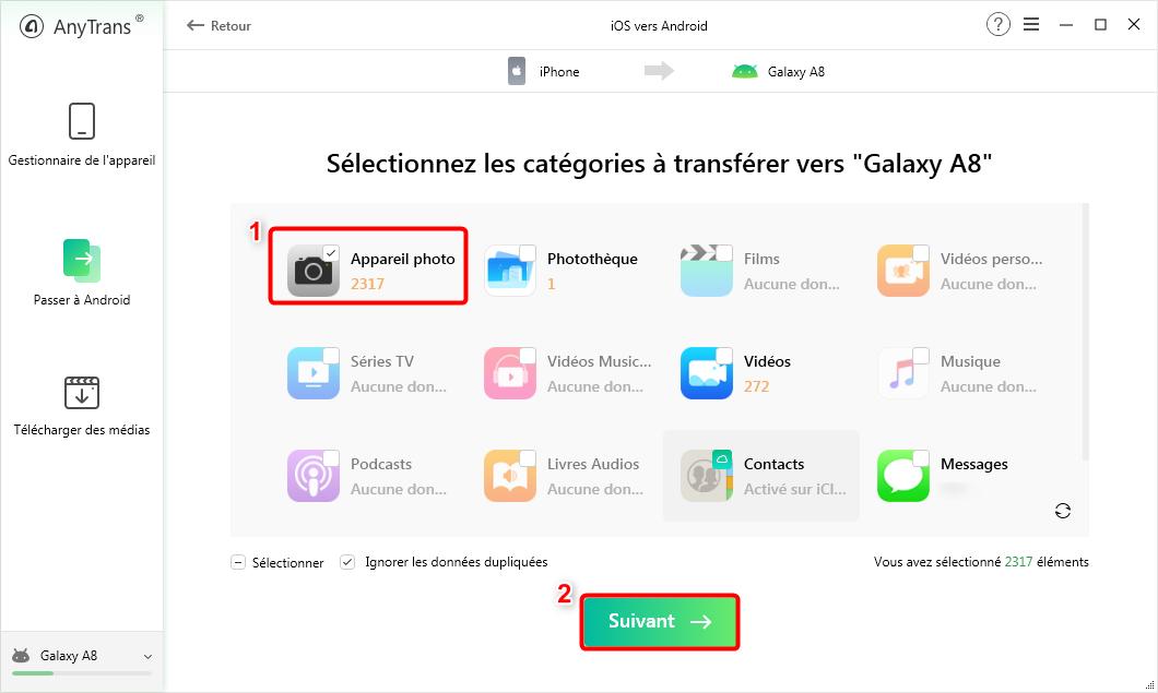 Sélectionnez les photos iPhone à transférer - 2