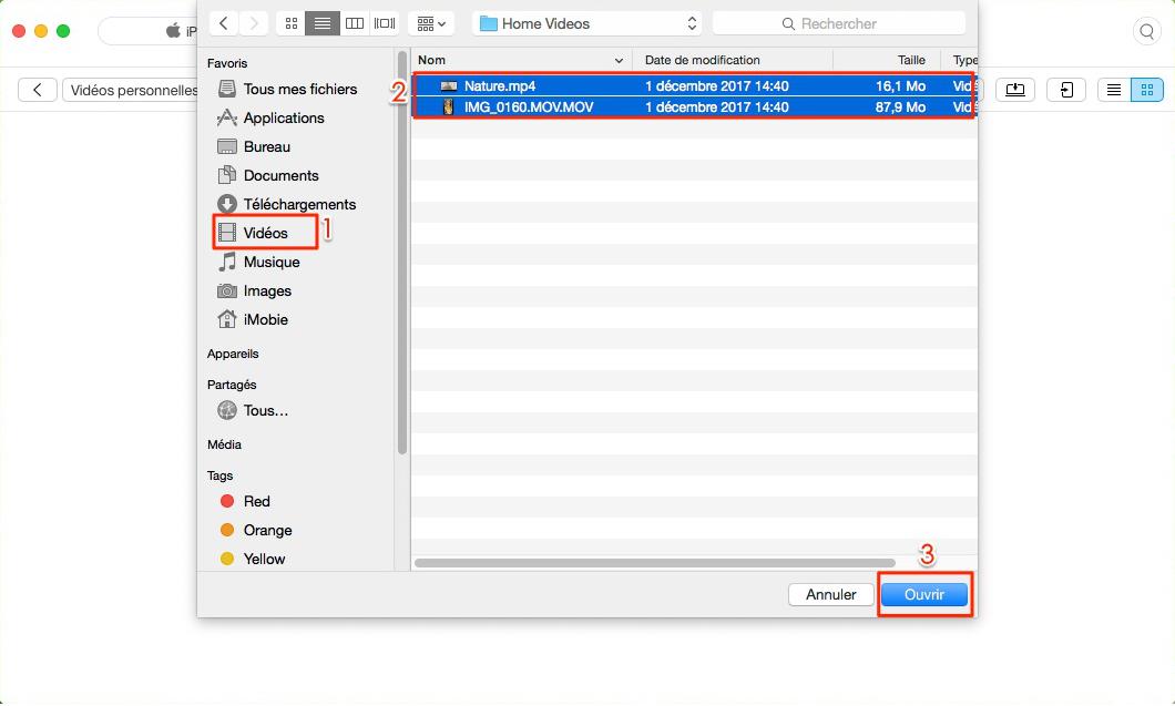 Comment transférer des films sur iPad sans iTunes – étape 3