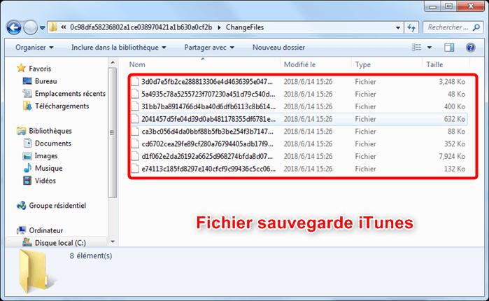 Fichiers sauvegarde iTunes cryptés