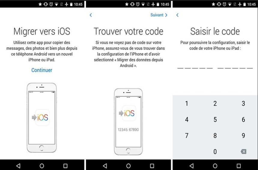 Tuto : l'application Migrer vers iOS