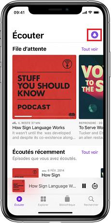 Comment utiliser podcast iPhone