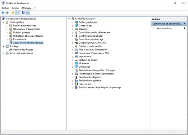 Vérifier le pilote USB sur PC
