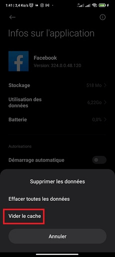Vider cache Android