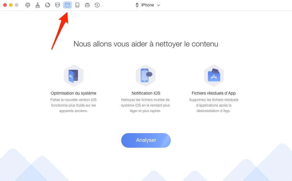 Effacer les caches d'App- étape 1