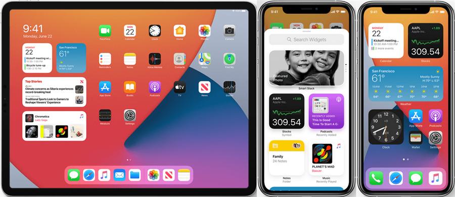 Widgets personnalisés de iOS 14