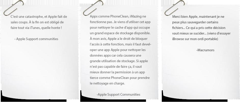Commentaires sur iOS 8.3