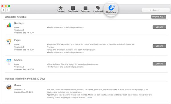 aggiorna itunes in macOS precedente