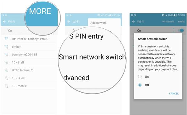 disattiva smart network switch