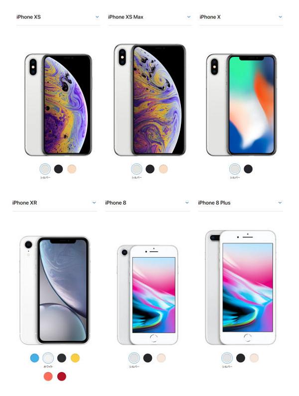 新しいiPhone XS・XS Max・XRについて