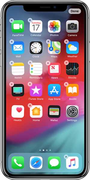 iPhoneホーム画面のページを追加する方法
