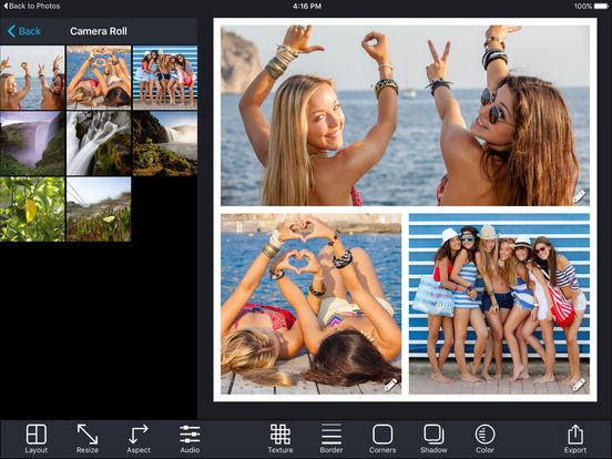 iPhone 7に適用する無料アプリ - Pic Stitch