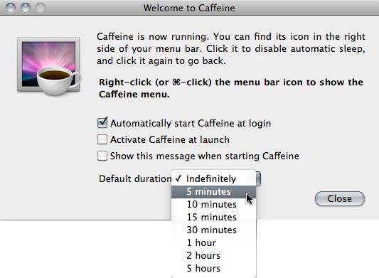おすすめのEl Capitanアプリ - Caffeine