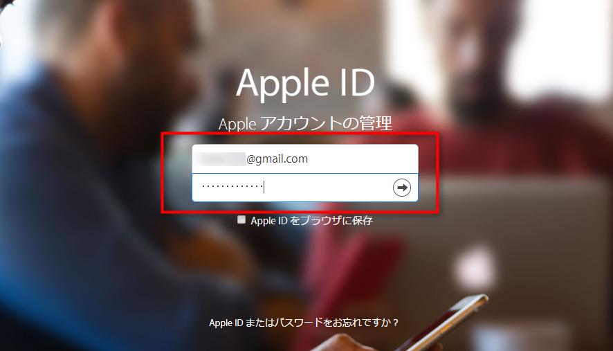 ステップ1 Apple IDとパスワードでサインインする