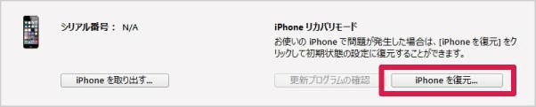 ステップ6:「iPhone/iPadを復元」をクリックする