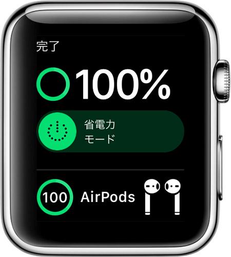 Apple Watch のバッテリー残量を確認する方法