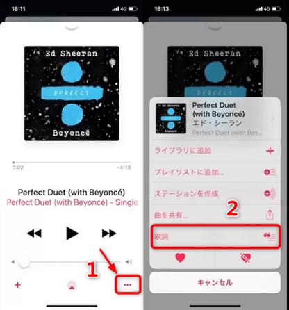 iPhoneでミュージックの歌詞が表示されない時の対策 方法3 写真元:techno-monkey