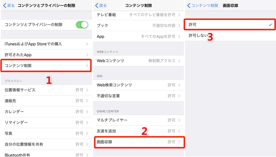 iOS 12でiPhoneの画面録画が保存されない原因と対策 3