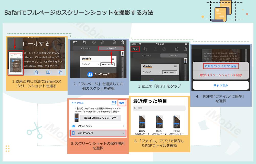 Safariでフルページのスクリーンショットを撮影